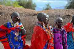 Folk från Masaistammen Royaltyfria Bilder