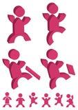 folk för uppgiftseps-symbol Royaltyfria Bilder