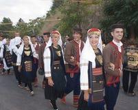 Folk group from bosnia. POLIZZI GENEROSA, SICILY - AUGUST 19:folk group from bosnia at the International Festival of hazelnuts,dance and parade through the city Stock Photo