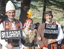 Folk group from Bulgaria Stock Photos
