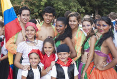Folk group from Colombia Stock Photo