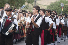 Folk group from sicily Stock Photos