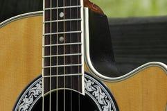 Folk Guitar. Section of a folk guitar Royalty Free Stock Photo