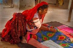 folk gujarat india livstid arkivbild