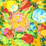 Folk hand drawn floral design Stock Image