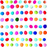 Folk hand painted background colorful polka dot Royalty Free Stock Images