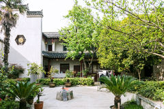 folk house and courtyard Royalty Free Stock Image
