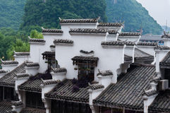 Chinese folk house. On foot of mountain in Yangshuo county,Guangxi province Royalty Free Stock Images