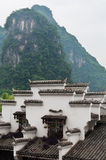 Chinese folk house. On foot of mountain in Yangshuo county,Guangxi province Royalty Free Stock Image