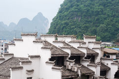 Chinese folk house. On foot of mountain in Yangshuo county,Guangxi province Stock Photography