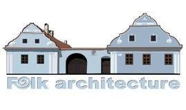 Folk house illustration Royalty Free Stock Photography