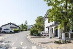 folk house and road stock photo