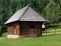 Folk house in Zuberec, Slovakia stock photography