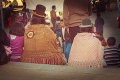 Folk i Bolivia arkivbilder