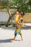 Folk i BUKHARA, UZBEKISTAN Royaltyfri Bild