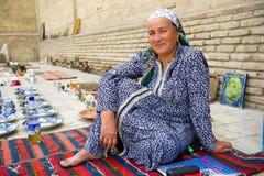 Folk i BUKHARA, UZBEKISTAN Royaltyfria Bilder