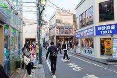 Folk i den Ura-Harajuku gatan Arkivbilder