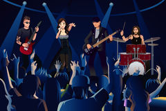 Folk i en konsert vektor illustrationer