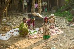 Folk i Etiopien Arkivfoto