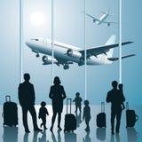 Folk i flygplatsen Fotografering för Bildbyråer