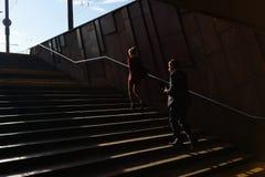 Folk i flyttning Royaltyfri Foto