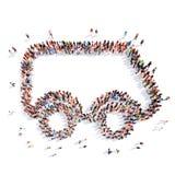 Folk i form av en bil Royaltyfria Bilder