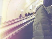 Folk i gångtunnelen Royaltyfri Foto