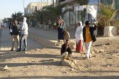 Folk i gatan, Etiopien Arkivfoto