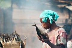 Folk i GHANA royaltyfri fotografi