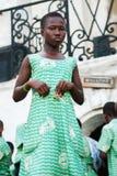 Folk i GHANA Arkivbild
