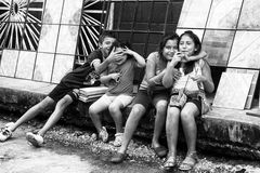 Folk i GUATEMALA CITY, GUATEMALA Royaltyfri Fotografi
