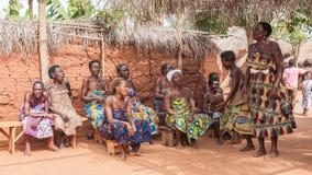 Folk i Kara, TOGO Royaltyfri Bild