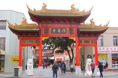 Folk i kineskvarter i Adelaide Australia Royaltyfria Bilder