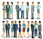 Folk i konversation stock illustrationer