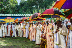 Folk i LALIBELA, ETIOPIEN Royaltyfri Bild