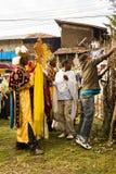 Folk i LALIBELA, ETIOPIEN Arkivfoton