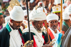 Folk i LALIBELA, ETIOPIEN Royaltyfria Foton