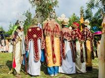 Folk i LALIBELA, ETIOPIEN Arkivbild