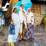 Folk i LALIBELA, ETIOPIEN Royaltyfri Foto