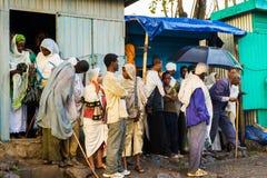 Folk i LALIBELA, ETIOPIEN Fotografering för Bildbyråer