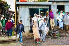 Folk i LALIBELA, ETIOPIEN Royaltyfria Bilder