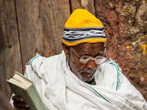 Folk i LALIBELA, ETIOPIEN Arkivbilder