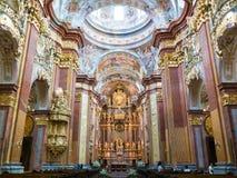 Folk i Melk Abbey Church, Österrike Arkivfoto