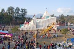 Folk i nöjesfält i Katmandu, Nepal Royaltyfria Bilder