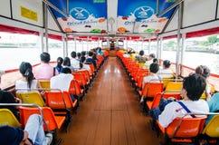 Folk i passagerarefartyget Royaltyfria Bilder