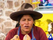 Folk i peru Arkivbilder