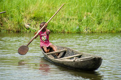 Folk i PORTO-NOVO, BENIN Royaltyfri Foto