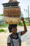 Folk i PORTO-NOVO, BENIN Royaltyfri Fotografi