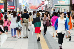 Folk i Sapporo Royaltyfria Bilder