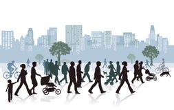 Folk i staden Arkivfoton